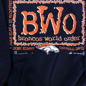 Vintage Sweaters - Vintage Broncos World Order Sweatshirt